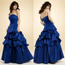 Strapless Satin Maxi Evening Dress / Prom Dress (HSX160)