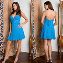 Alluring A-line Short Cocktail Dress / Prom Dress (HSX747)