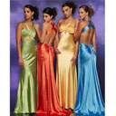 Column Halter Sweep Train Taffeta Prom / Evening Dress (HSX309)