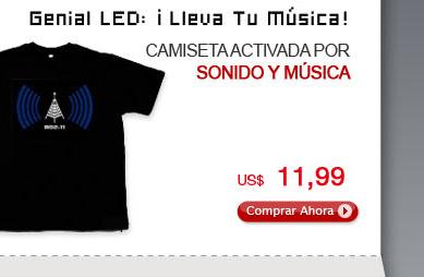 Camiseta Activada por Sonido y Música