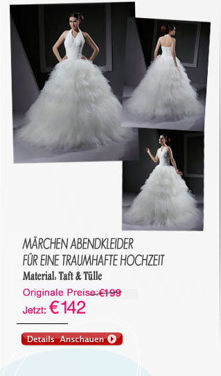 Märchen Abendkleider für eine traumhafte Hochzeit