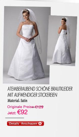 Atemberaubend schöne Brautkleider mit aufwendiger Stickereien