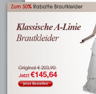 Klassische A-Linie Brautkleider