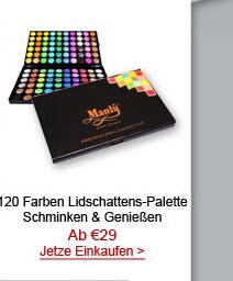 120 Farben Lidschattens-Palette