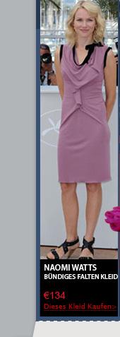 Naomi Watts bündiges Falten Kleid