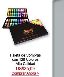 Paleta de Sombras con 120 Colores