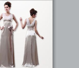 Vestido de Novia V-Cuello