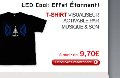 T-shirt Visualiseur Activable par Musique & Son