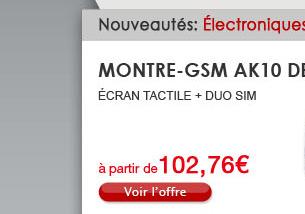 Montre-GSM AK10 Débloquée