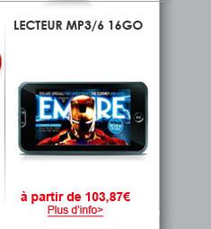 Lecteur MP3/6 16Go