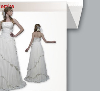 Robe de Mariée Classique A-Ligne