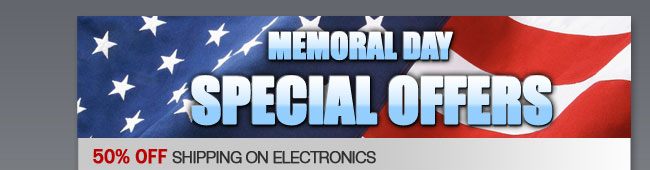 Memoral Day Special Offers