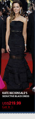 Kate Beckinsale's Seductive Black Dress