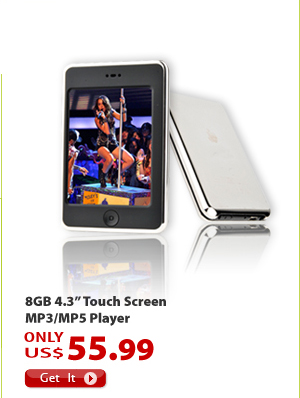 "8GB 4.3"" Touch Screen MP3/MP5 Player"