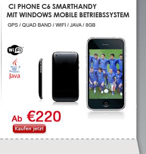 Ci Phone C6 Smarthandy mit Windows Mobile Betriebssystem