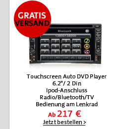 Touchscreen Auto DVD Player
