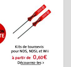 Kits de tournevis pour NDS, NDSL et Wii