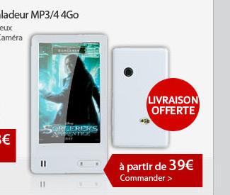 Baladeur MP3/4 4Go