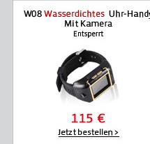 W08 Wasserdichtes Uhr-Handy
