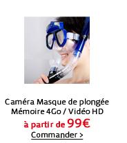 Caméra Masque de plongée