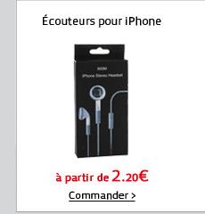 Écouteurs pour iPhone