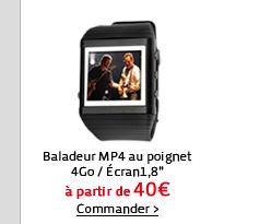 Baladeur MP4 au poignet