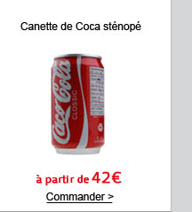 Canette de Coca sténopé