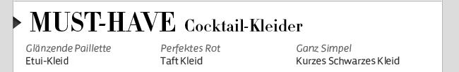 Must-Have Cocktail-Kleider