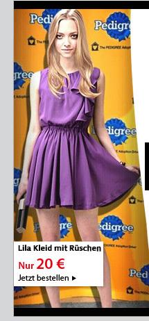 Lila Kleid mit Rüschen
