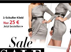 1-Schulter Kleid