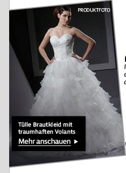 Tülle Brautkleid mit traumhaften Volants