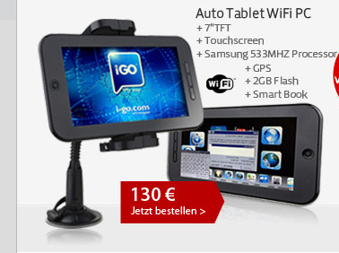 Auto Tablet WiFi PC
