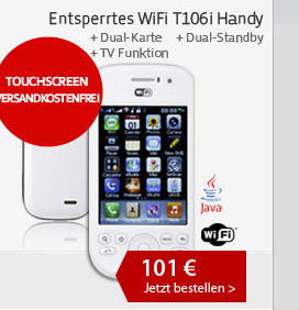 Entsperrtes WiFi T106i Handy