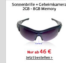 Sonnenbrille + Geheimkamera