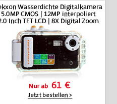 Tekxon Wasserdichte Digitalkamera