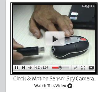 Clock & Motion Sensor Spy Camera
