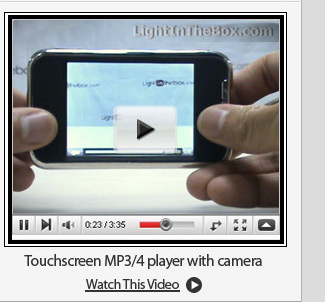 Touchscreen MP3/4 player with camera