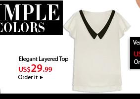 Elegant Layered TOP