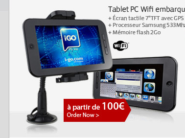 Tablet PC Wifi embarqué