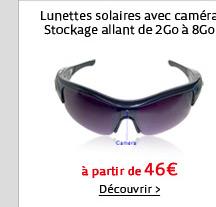 Lunettes solaires avec caméra