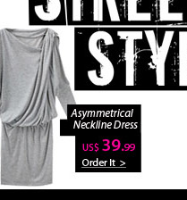 Asymmetrical Neckline Dress
