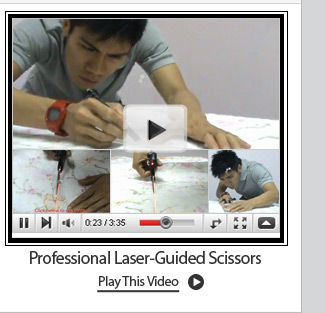 Professional Laser-Guided Scissors