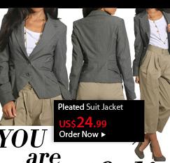 Pleated Suit Jacket