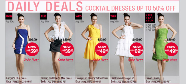 Cocktail Dresses UP TO 50% OFF