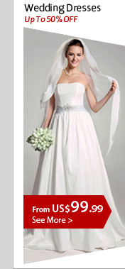 Up To 50% OFF Wedding Dresses