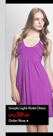Simple Light Violet Dress