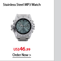 Stainless Steel MP3 Watch with Equalizer