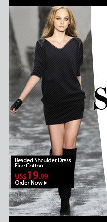 Beaded Shoulder Dress
