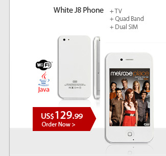 WHITE J8 Phone