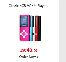Classic 8GB MP3/4 Players